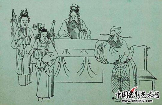 戏剧美女手绘素描